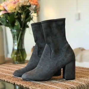 "LIKE-NEW - Halogen ""Jacy"" Sock Boot: Gray Textile"